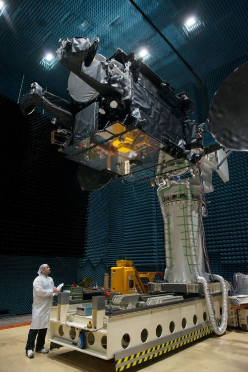 H36W-1 Telecommunications Satellite during Antenna Range Test; © ESA