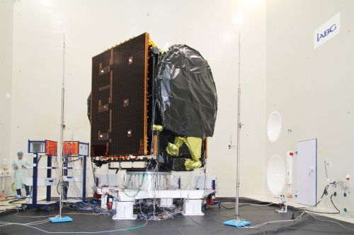 Satellite EDRS-C at IABG at the beginning of November 2018 during the Acoustic Test Campaign; © OHB System AG