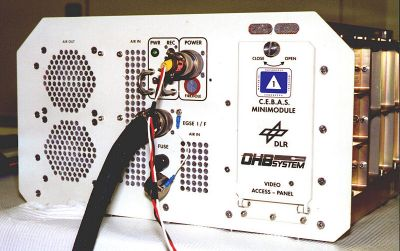 Front panel of the C.E.B.A.S. mini module
