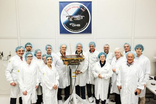 The Max Valier Sat team at the Launch Readiness Review end of February at OHB in Bremen. Copyright: Karlis Kalnins