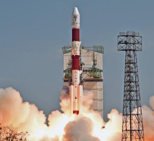 Launch of the PSLV-C38. Copyright: ISRO